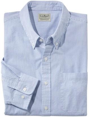L.L. Bean Men's Organic Cotton Seersucker Shirt, Long-Sleeve, Traditional Fit, Stripe