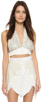 Rodarte Hand Beaded Halter Top
