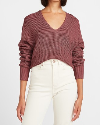 Express Relaxed V-Neck Sweater