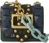Burberry Petite Gemstone-studded pony-hair and leather cross-body bag