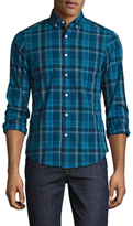 Slate & Stone Checkered Spread Collar Sportshirt