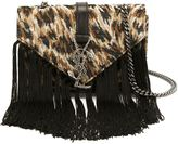 Saint Laurent 'Monogram' crossbody bag - women - Cotton/Leather/Viscose - One Size