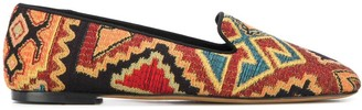 Etro embroidered slippers