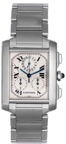 Cartier Tank Francaise W51001Q3 Stainless Steel Quartz 36mm Mens Watch
