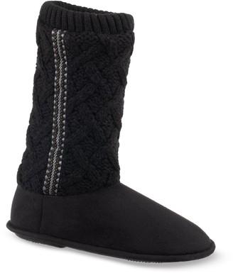 Isotoner Women's Tess Trellis Sweater Knit Slippers