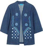 MiH Jeans Embroidered Denim Jacket - x small
