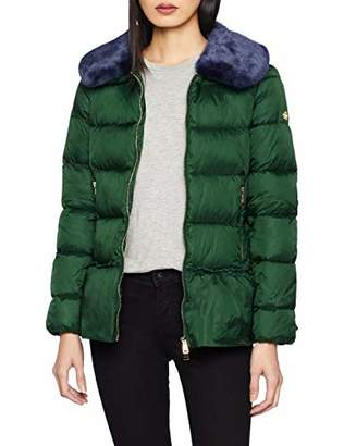 Rich & Royal rich&royal Women's Jacket with Volant (Forest Green 475)