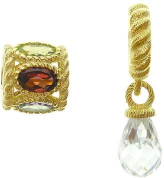 Judith Ripka Sterling 14K Clad Gemstone & Diamonique Charms