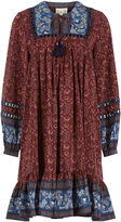 Sea Maroon Floral Allura Tunic Dress