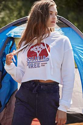 Free People Joshua Tree Old School Cropped Hoodie by Parks Project at Free People, White, S