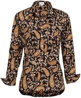 At Last... Soho Shirt- Black Paisley