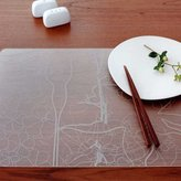 Modern-Twist Placemat Floral Grey