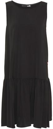 Love Moschino Gathered Printed Stretch-cady Dress