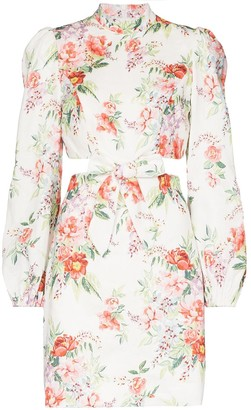 Zimmermann Bellitude floral-print cutout mini dress