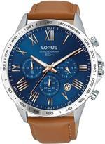 Lorus Mens tan leather strap chronograph watch