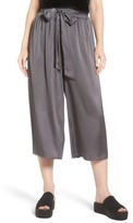 Soprano Women's Crop Satin Wide Leg Pants