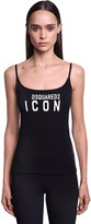 DSQUARED2 Icon Printed Cotton Jersey Tank Top