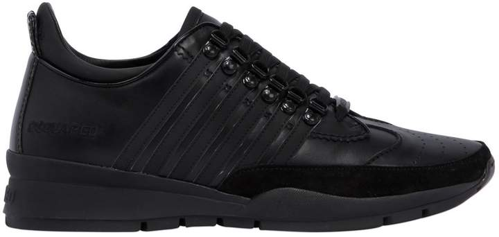 DSQUARED2 251 Striped Leather Sneakers