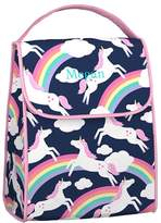 Pottery Barn Kids Mackenzie Pink Rainbow Unicorn Spinner Luggage