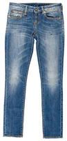 R 13 Paint Splatter Skinny Jeans