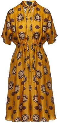 Nissa Satin Effect A - Line Dress