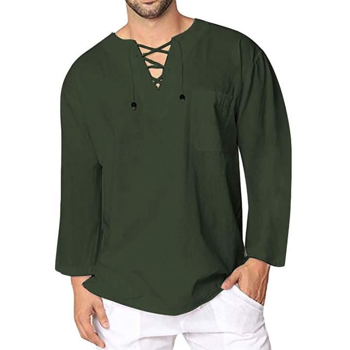 0619ce815a02 Men's Long Sleeve Linen Top - ShopStyle Canada