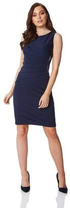 M&Co Roman Originals textured zip detail dress