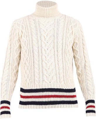 Thom Browne High Neck Knit Sweater