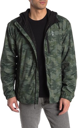 Free Country Wind Shear Zip Up Hooded Jacket