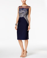 Jax Cap-Sleeve Illusion Lace Sheath Dress