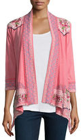 Johnny Was Sabine Embroidered Wrap Jacket