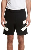 Neil Barrett Men's Retro Faux Leather Trim Sweat Shorts