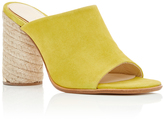 Paloma Barceló Flora Yellow Suede Mules