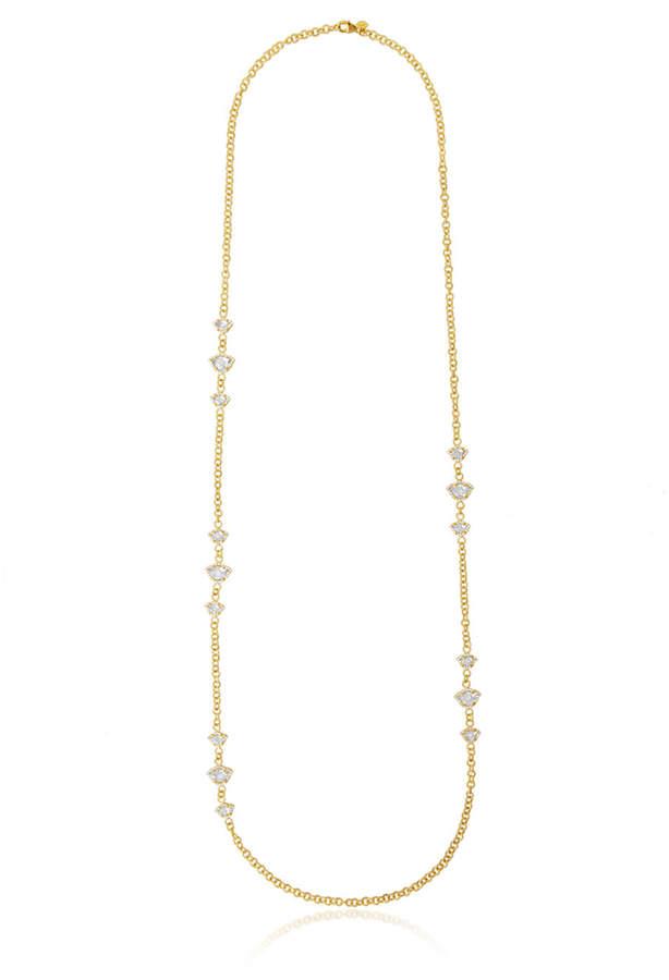Amrapali Legend Nalika Lotus Station Necklace with White Topaz & Diamonds 36