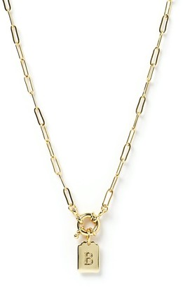Arms Of Eve Letter Gold Tag Necklace B