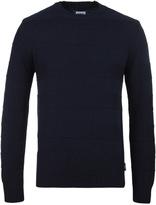 Edwin Navy Stripes Crew Neck Sweater