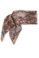 Susan Daniels Silk Snake Print Headband