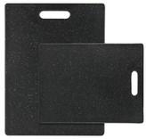 Dexas 2 Piece Polyethylene Cutting Board Set - Midnight Granite