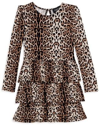 Bardot Junior Girl's Keira Leopard Ruffled Dress