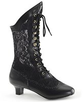 Funtasma by Pleaser Women's Dame-115 Boot Black Polyurethane-Lace Size -10