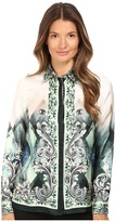 Versace Long Sleeve Printed Blouse Women's Blouse