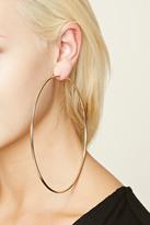 Forever 21 FOREVER 21+ Oversized Hoop Earrings