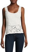 BCBGMAXAZRIA Floral Lace Sleeveless Top