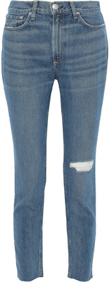 Rag & Bone Distressed High-rise Skinny Jeans