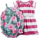Carter's Baby Girl Striped Dress & Floral Romper Set
