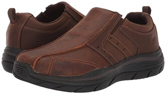 Skechers Relaxed Fit Expected 2.0 - Wildon (Dark Brown) Men's Shoes