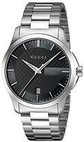 Gucci 'G-Timelss' Quartz Stainless Steel Automatic Watch, Color:Silver-Toned (Model: YA126457)