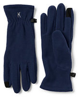 Lands' End Men's T100 Fleece EZ Touch Gloves-Ecru