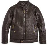 Urban Republic Boys' Textured Faux Leather Jacket - Sizes 8-20