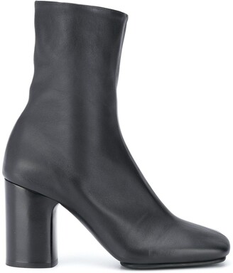 Acne Studios Block-Heel Leather Ankle Boots